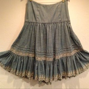 Ralph Lauren jean Prairie Skirt 8